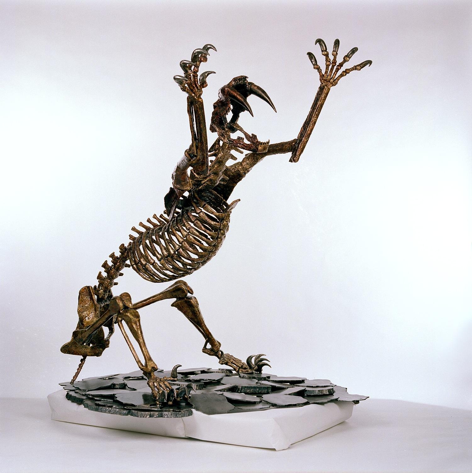 Saber Tooth Cat Skeleton R E M Metal Art