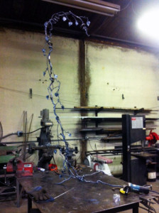 Decorative Mirror vine, progress